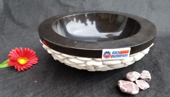 Washbasin Black-white pebble kiklos