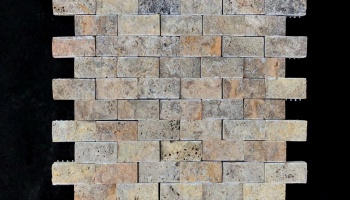 SILVER TRAVERTINE MOSAIC